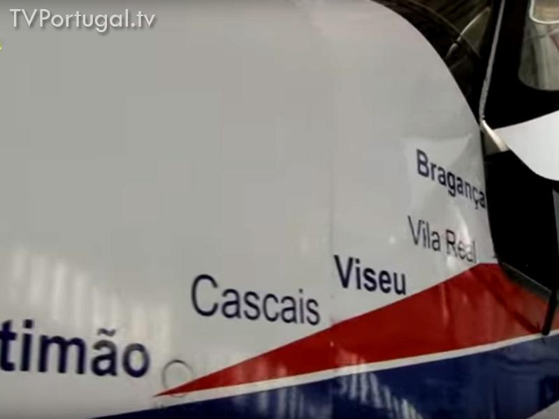 Inauguração Linha Aérea, Aerodromo Municipal de Cascais, São Domingos de Rana, Tires, Carlos Carreiras, Televisão Cascais, Bragança, Viseu, Vila Real, TV