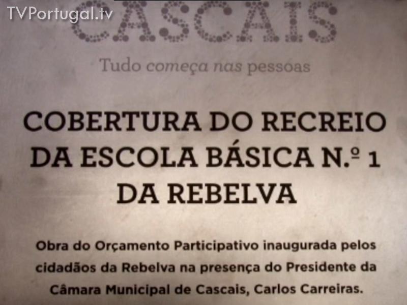 Orçamento Participativo, Inauguração em Rebelva, Alcabideche, Cobertura do recreio da Escola Basica 1 da Rebelva, Cascais, WebTV, zona de Lisboa