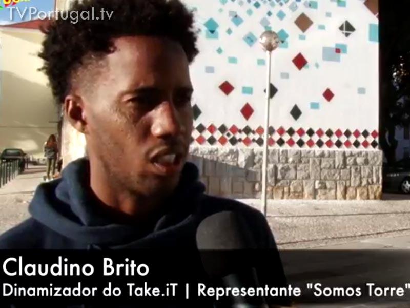 """Claudino Brito, Projecto """"Somos Torre"""", Apresentação de Grafities, Bairro da Torre Cascais"""