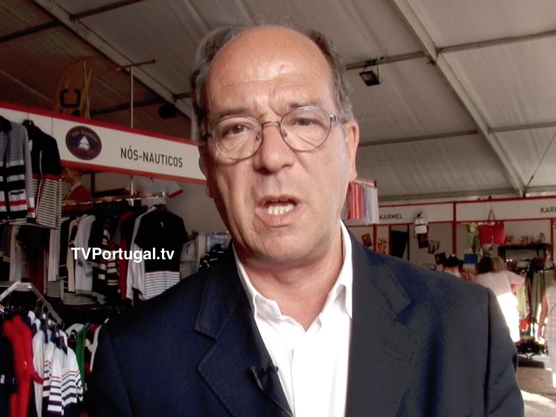 Visita de Carlos Carreiras ao Stock & Fashion Market, Carlos Carreiras, Presidente da Câmara Municipal de Cascais, Televisão, Portugal
