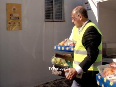 Visita às Instalações LIDL e Acção de Voluntariado, Projecto Re-Food, Carlos Carreiras, LIDL Fontaínhas, Cascais, Televisão, Portugal, Reportagem