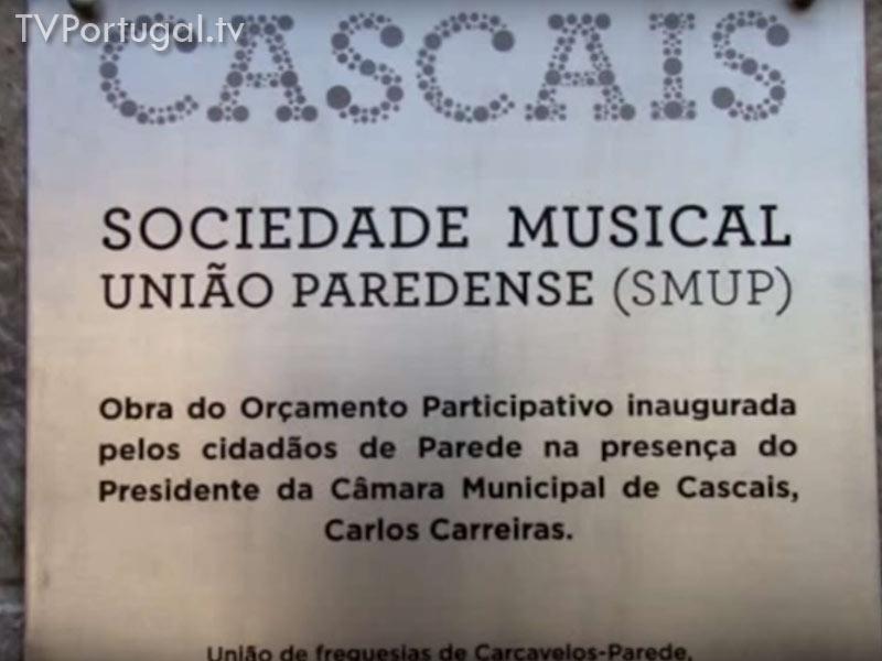 Inauguração das Obras de Requalificação, Sociedade Musical União Paredense, Zilda Costa Silva, Carlos Carreiras, Pedro Arando
