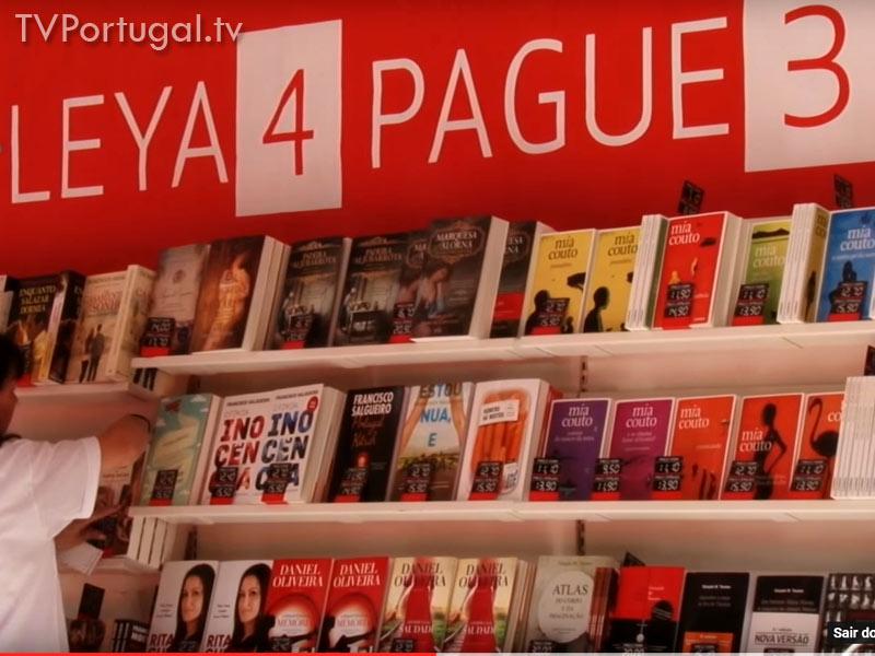 Feira do Livro, Abertura, Feira Internacional de Cultura, Carlos Carreiras, Presidente da Câmara Municipal de Cascais, Televisão Portugal, Portuguesa