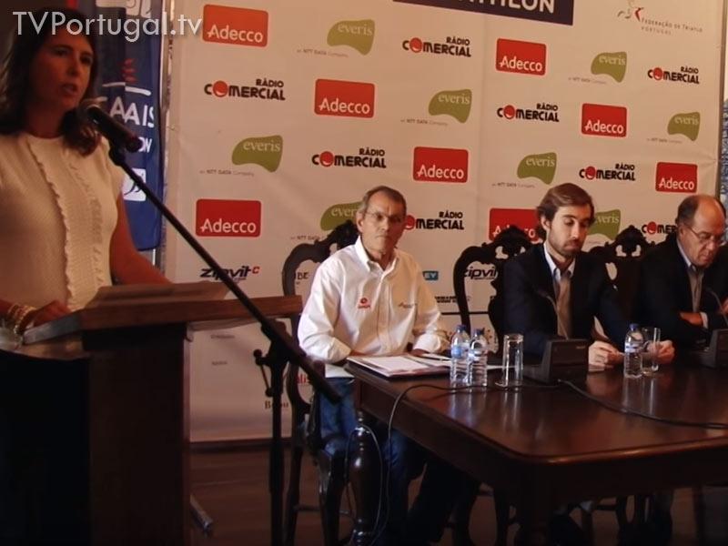 Cascais Long Distance Triathlon, Conferência de Imprensa, Frederico Pinho de Almeida, Vereador da Câmara Municipal de Cascais, Katarina Larsson, Portugal