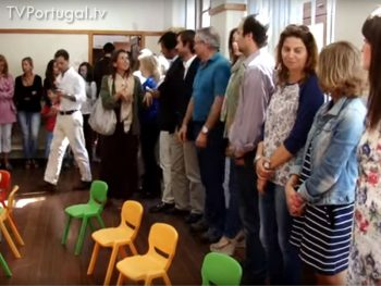 Inauguração Jardim de Infância, José Jorge Letria, Pedro Morais Soares, Presidente da Junta de Freguesia Cascais Estoril, Cascais Televisão Portugal