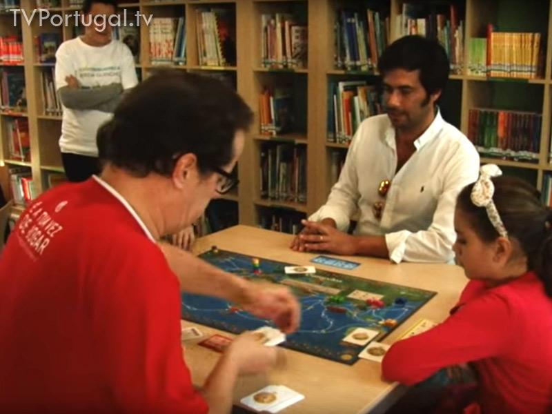 Lubiblioteca da Areia, Dinamização jogos de Tabuleiro, Pedro Morais Soares, Presidente da Junta de Freguesia Cascais Estoril, Cascais Televisão