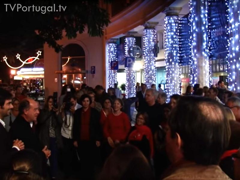 Iluminações de Natal, Inauguração, Estoril, Natal 2015, Comerciantes das Arcadas do Estoril, Carlos Carreiras, Cascais Televisão Portugal, Festas, TV WEB
