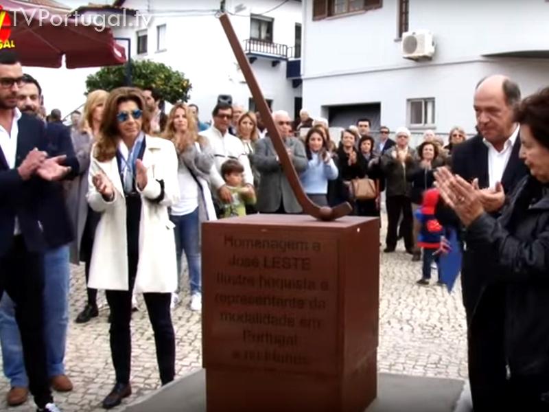 Homenagem a José Leste Largo de Alvide, Escultura Evocativa, Ramalhete, Xana, Campeão de Hoquei Patins, Câmara de Cascais, Reportagens, Televisões Regionais