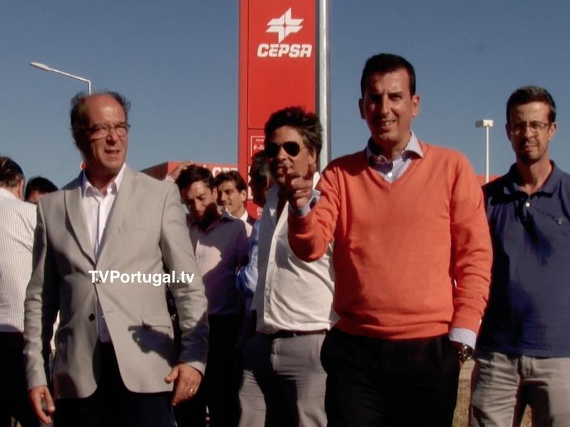 Carlos Carreiras e Outros Membros do Executivo Visitam Obras de Requalificação, Estrada da Quinta de Manique, Abóboda, Cascais, Televisão, Portugal