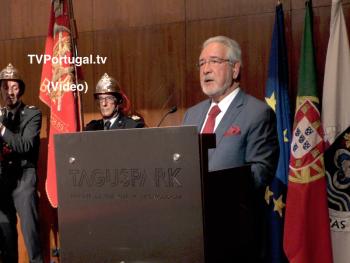 Cerimónia de instalação, Assembleia Municipal e C. M. de Oeiras, Isaltino Morais, Oeiras Canal, Televisão, Reportagem, Tagus Parque