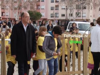Inauguração do Parque Infantil de Tires, São Domingos de Rana, Carlos Carreiras, Joana Balsemão, Cascais, Portugal, Televisão, Patrícia Pereira