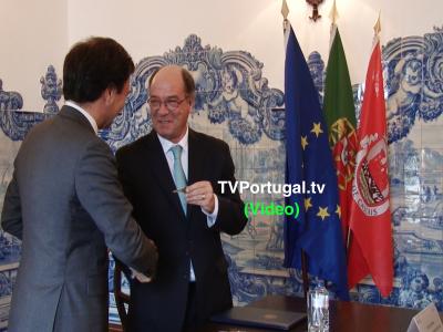 Cerimónia de Assinatura do Protocolo, Cedência do Forte de Santo António da Barra, Carlos Carreiras, Marcos Perestrello, Cascais, Televisão, Portugal