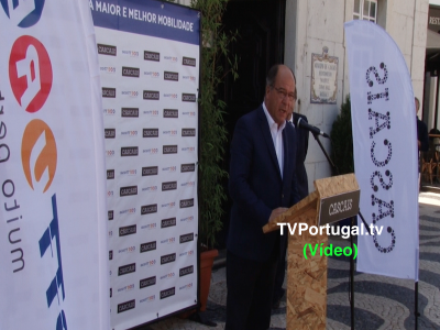 Apresentação Pública dos Novos Veículos da Scotturb, Carlos Carreiras, Largo 5 de Outubro, Cascais, Portugal, Reportagem, Televisão