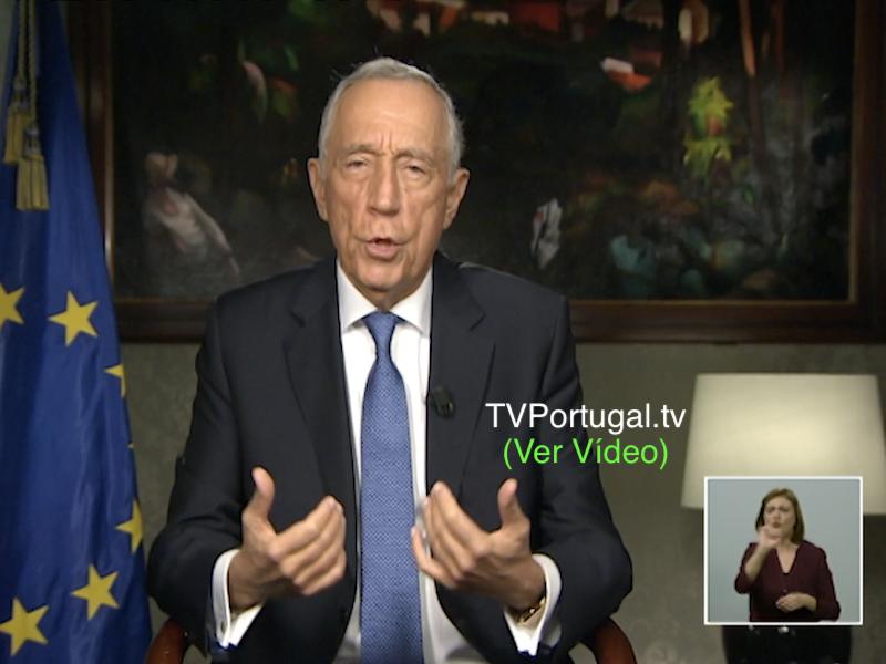 Mensagem de Ano Novo do Presidente da República, Marcelo Rebelo de Sousa, Presidente da República Portuguesa, Cascais, Televisão, Portugal