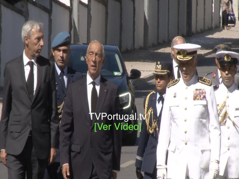 Funeral de Diogo Freitas do Amaral, Cemitério da Guia Cascais, Marcelo Rebelo de Sousa, Cascais tv, Televisão, Portugal, Reportagem