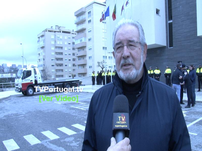 Oeiras com mais 38 Agentes no 18.º Aniversário da Polícia Municipal, Oeiras, Isaltino Morais, Portugal, Televisão, Reportagem