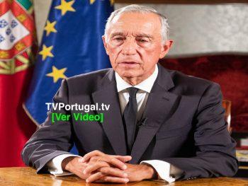 Mensagem do Presidente da República Epidemia do novo Coronavírus, Marcelo Rebelo de Sousa, Portugal, Televisão, Cascais, Lisboa