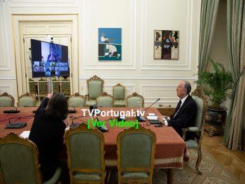 Início da Reunião do Conselho de Estado, Videoconferência, Marcelo Rebelo de Sousa, Presidente da República, Portugal, Televisão, Cascais