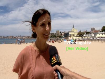 Abertura da Época Balnear 2020, Praia do Tamariz, Joana Pinto Balsemão, Carlos Carreiras, Portugal, Cascais, Televisão, Reportagem