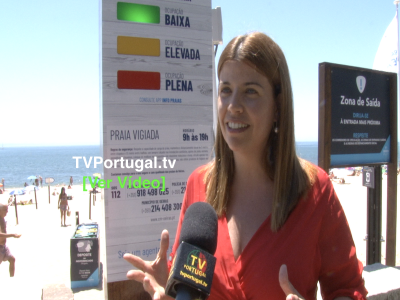 Hastear das Bandeiras Azuis nas Praias de Oeiras | Cerimónia Oficial, Joana Baptista, Isaltino Morais, Televisão, Portugal