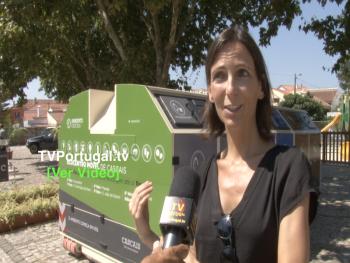 Inauguração do 1.º Ecoponto Móvel   Reciclagem de Proximidade em Cascais, Portugal, Cascais, Televisão, Joana Pinto Balsemão