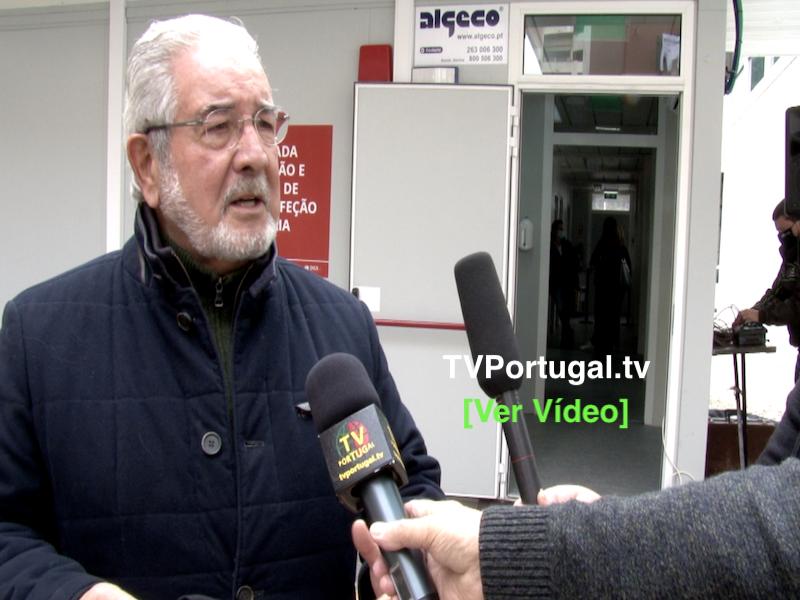 Inauguração de Novas Instalações da Área Dedicada a Resposta COVID em Algés, Isaltino Morais, Portugal, Televisão
