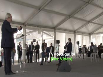 Inauguração PHC Software e Escultura de Homenagem a Nelson Mandela, Francisco Rocha Gonçalves, Isaltino Morais, Oeiras, Portugal, Televisão