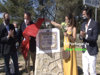 Descerramento de Placa Toponímica da Rotunda João Sobrinho, Pedro Morais Soares, Carlos Carreiras, Portugal, Televisão, Cascais
