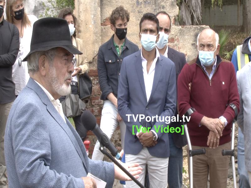 Primeira Pedra do Quintalão e Inauguração de Obras em Ruas de Algés, Portugal, Televisão, Oeiras, Isaltino Morais