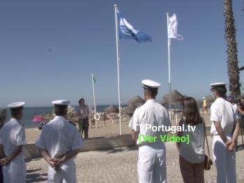 Hastear da Bandeira Azul   Praia de Caxias   Baía dos Golfinfos, Portugal, Televisão, Oeiras, Joana Baptista