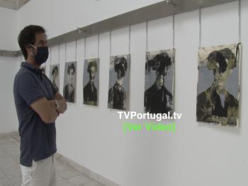 Inauguração da Exposição Estoril Futurista   Galeria de Arte do Estoril, Portugal, Televisão, Cascais, Reportagem