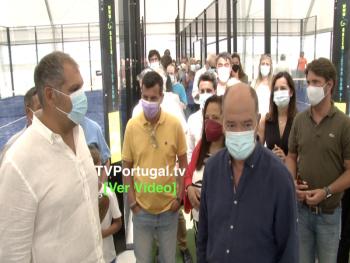 Inauguração do ZONE PRO PADEL   São Domingos de Rana, Portugal, Televisão, Notícias, Reportagem, Frederico Nunes